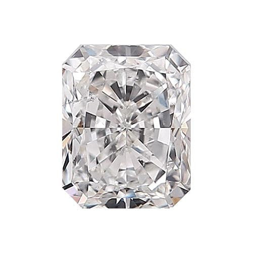 0.5 carat Radiant Diamond - E/SI2 Natural Very Good Cut - TIG Certified - Custom Made