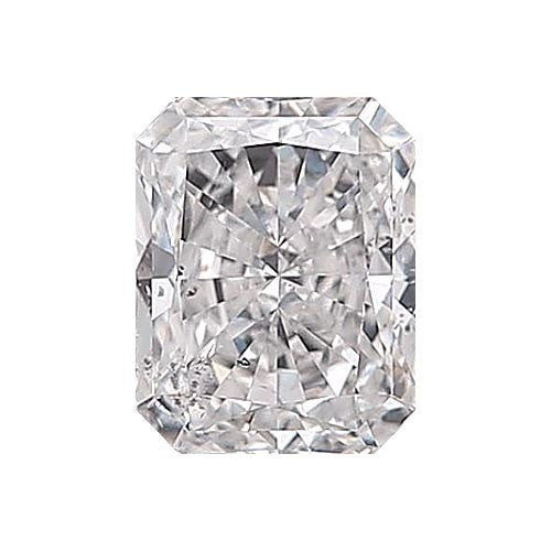0.5 carat Radiant Diamond - E/SI3 Natural Excellent Cut - TIG Certified - Custom Made