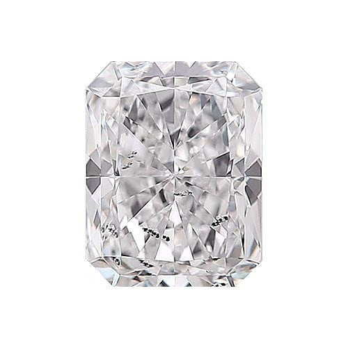 0.5 carat Radiant Diamond - F/I1 Natural Excellent Cut - TIG Certified - Custom Made
