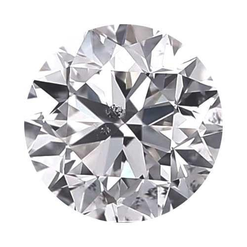 Loose Diamond 0.5 carat Round Diamond - D/I1 CE Good Cut - AIG Certified