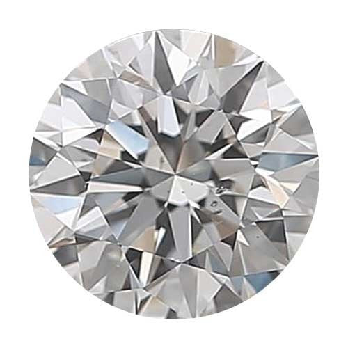Loose Diamond 0.5 carat Round Diamond - H/SI1 CE Good Cut - AIG Certified