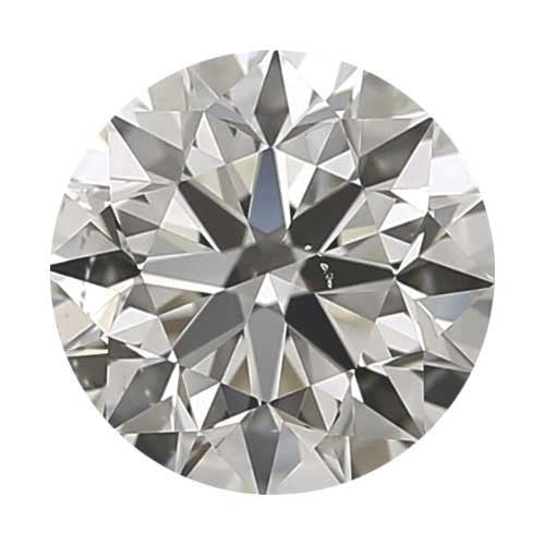 Loose Diamond 0.5 carat Round Diamond - H/VS2 CE Signature Ideal Cut - AIG Certified