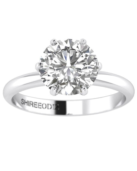 Engagement Rings 0.50 carat F/VS2 Natural Diamond Round Cut Rings in 14k White Gold