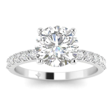ManyChat 0.50 carat G-SI2 Round Diamond Engagement Ring in 14k White Gold