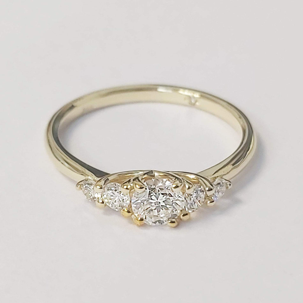 0.50 carat Round Diamond 14K Yellow Gold Engagement Ring - Custom Made