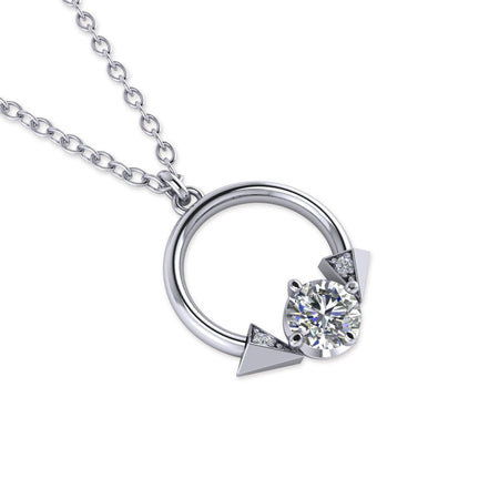 Daily Deal 0.52ct Diamond White Gold Devils Tail Necklace