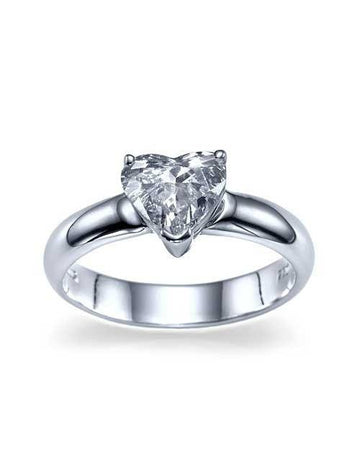 Engagement Rings 0.63 carat Heart Shaped Diamond Engagement Ring in 14k White Gold
