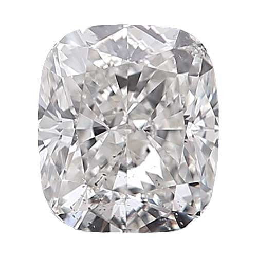 0.7 carat Cushion Diamond - D/SI2 Natural Very Good Cut - TIG Certified - Custom Made