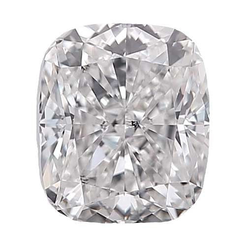 0.7 carat Cushion Diamond - D/SI3 Natural Very Good Cut - TIG Certified - Custom Made