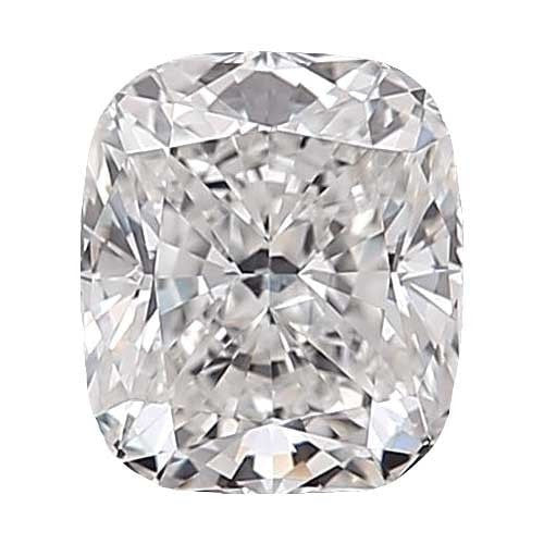 0.7 carat Cushion Diamond - D/VS2 Natural Excellent Cut - TIG Certified - Custom Made