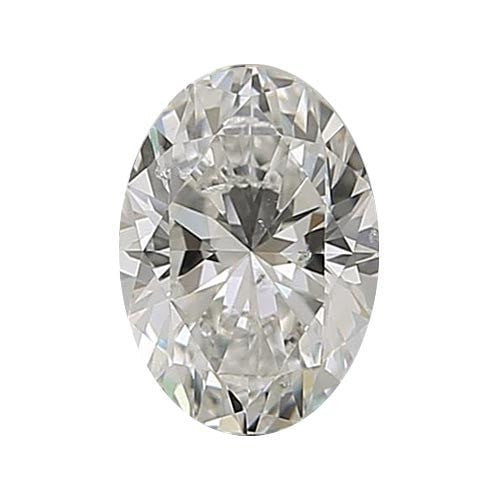 0.7 carat Oval Diamond - I/SI2 Natural Excellent Cut - TIG Certified - Custom Made