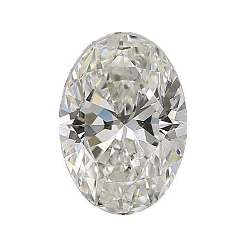 0.7 carat Oval Diamond - J/SI1 Natural Very Good Cut - TIG Certified - Custom Made