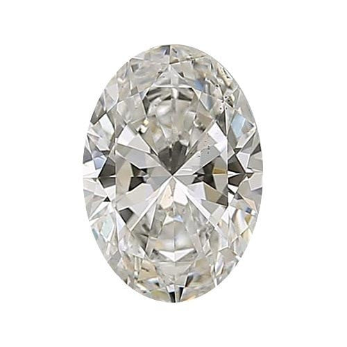 0.7 carat Oval Diamond - J/VS2 Natural Excellent Cut - TIG Certified - Custom Made