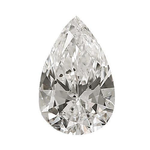 0.7 carat Pear Diamond - H/I1 CE Very Good Cut - TIG Certified - Custom Made