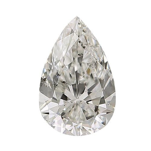 0.7 carat Pear Diamond - J/SI2 CE Very Good Cut - TIG Certified - Custom Made