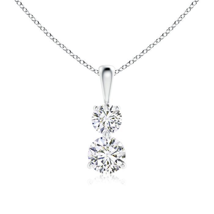 Pendants 0.70ctw D/SI1 Diamond Halo Pendant - Limited Offer  (Only 5 Available)