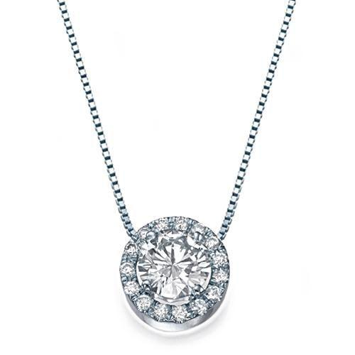 Pendants 0.70ctw G/SI1 Diamond Halo Pendant - Limited Offer  (Only 1 Available)