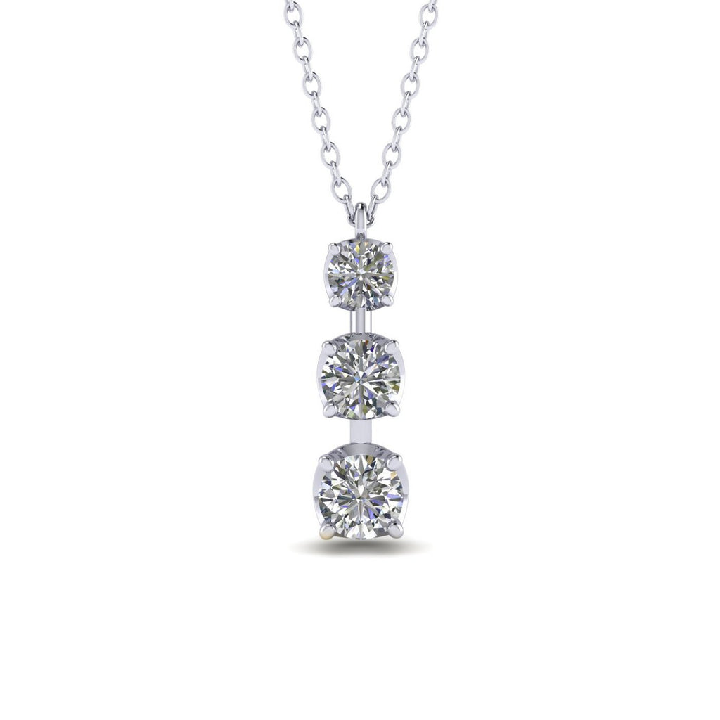 0.75ct Diamond White Gold Journey Necklace - Custom Made