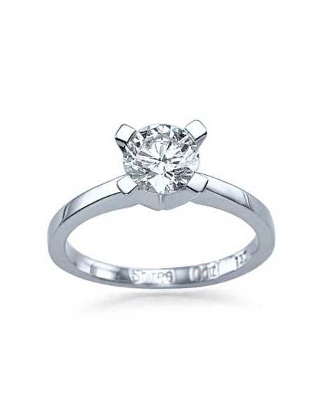 0.75ct F-SI2 Round Diamond Solitaire Platinum Engagement Rings - Custom Made