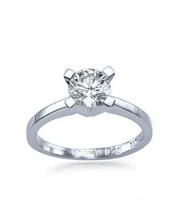 Engagement Rings 0.75ct F-SI2 Round Diamond Solitaire Platinum Engagement Rings