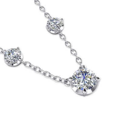 Daily Deal 0.7ct Diamond White Gold By The Yard Necklace