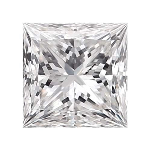 0.8 carat Princess Diamond - D/I1 CE Very Good Cut - TIG Certified - Custom Made