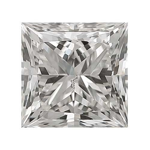 0.8 carat Princess Diamond - H/SI3 CE Very Good Cut - TIG Certified - Custom Made