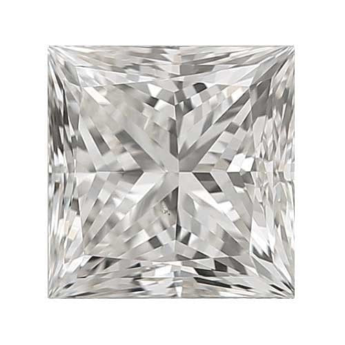 0.8 carat Princess Diamond - H/VS1 CE Very Good Cut - TIG Certified - Custom Made