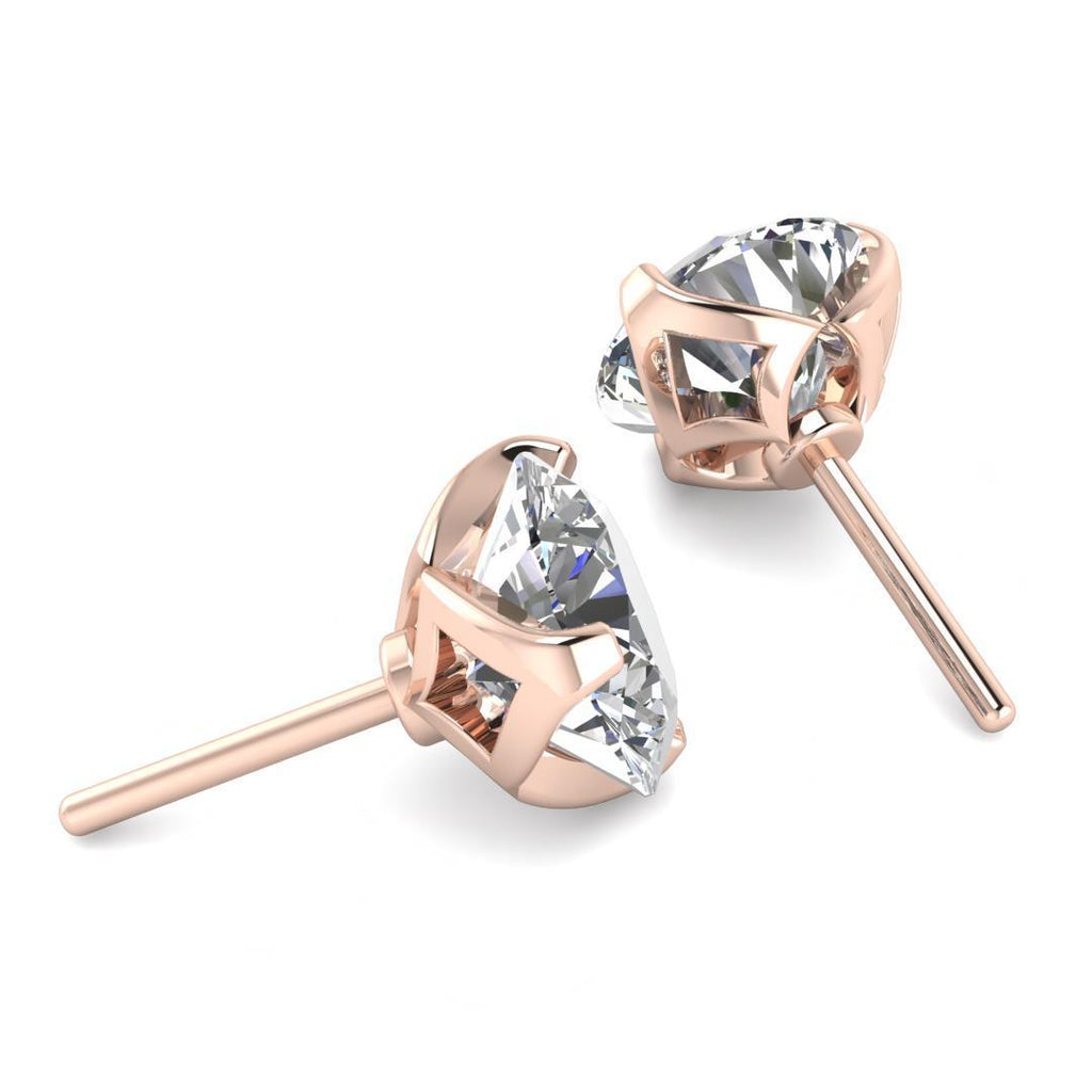 0.80ctw D/SI1 Designer Stud Earrings - Limited Offer (4 Pairs Only) - Custom Made