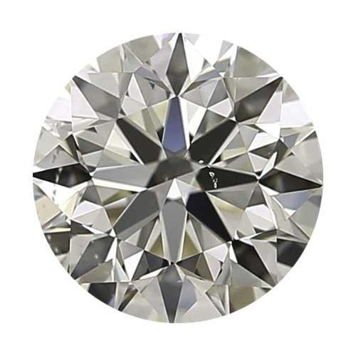 0.9 carat Round Diamond - I/VS2 CE Very Good Cut - TIG Certified - Custom Made