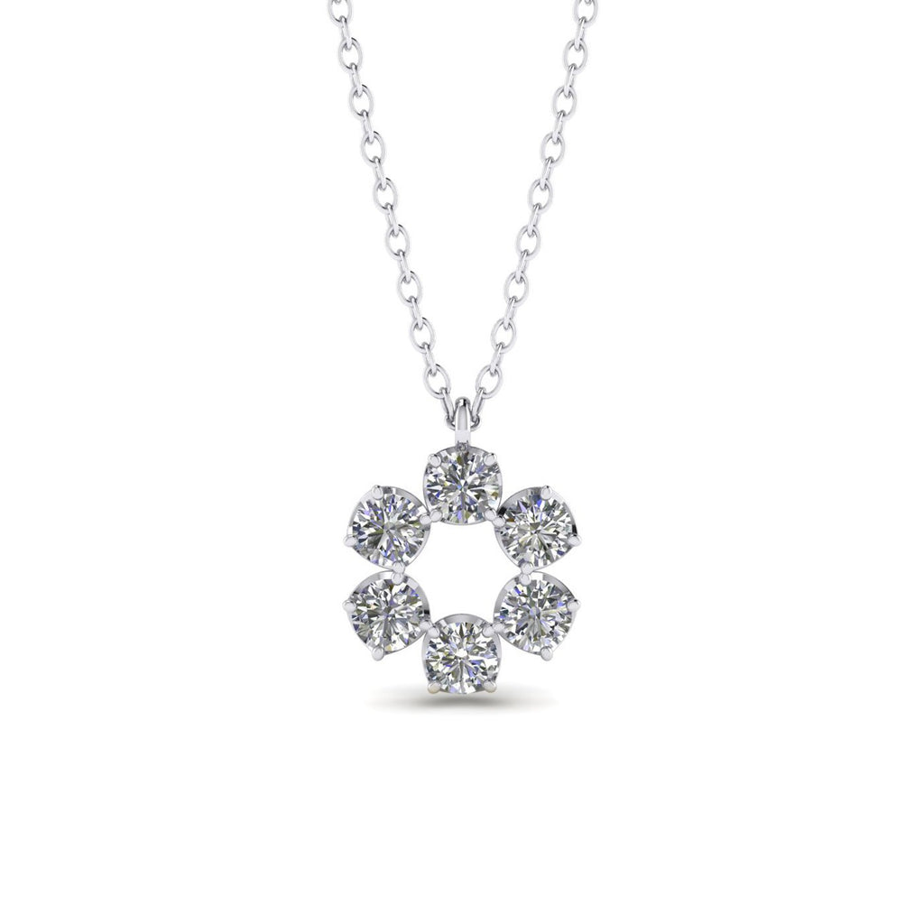 Daily Deal 0.90ct Diamond White Gold Eternity Necklace