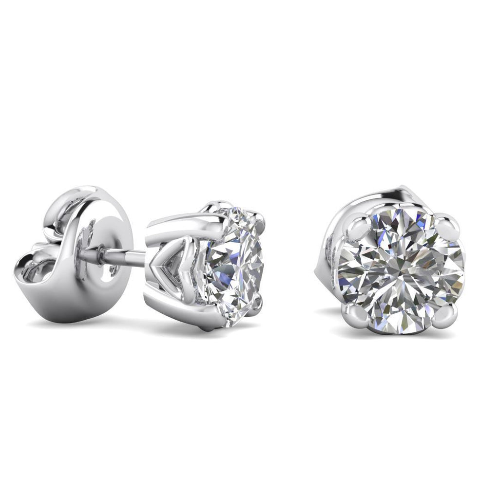 Earrings 0.90ctw E/SI1 Heart Design Stud Earrings - Limited Offer (2 Pairs Only)