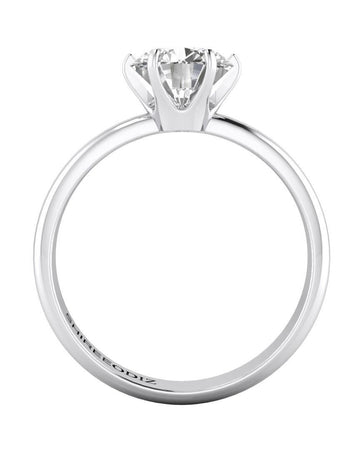 Engagement Rings 0.98 carat Tiffany Style Engagement Rings 6-Prong in 18k White Gold