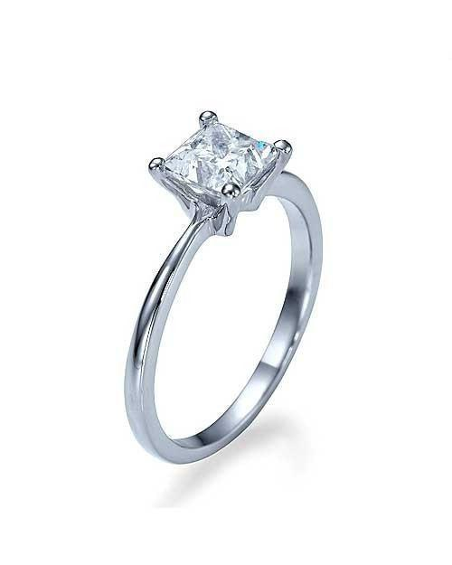 Engagement Rings 1.00 carat D-VS2 Clarity Enhanced Diamond Engagement Rings in 18K White Gold
