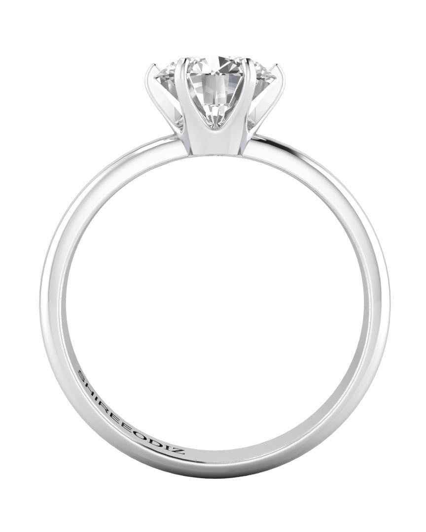 100 carat Tiffany Engagement Rings 6Prong in 14k White Gold