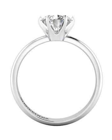 Engagement Rings 1.00 carat Tiffany Engagement Rings 6-Prong in 14k White Gold Designer Jewelry