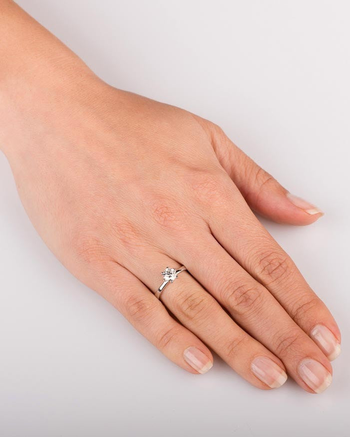 3225ad2c8fffe 1.00 carat Tiffany Engagement Rings 6-Prong in 14k White Gold Designer  Jewelry