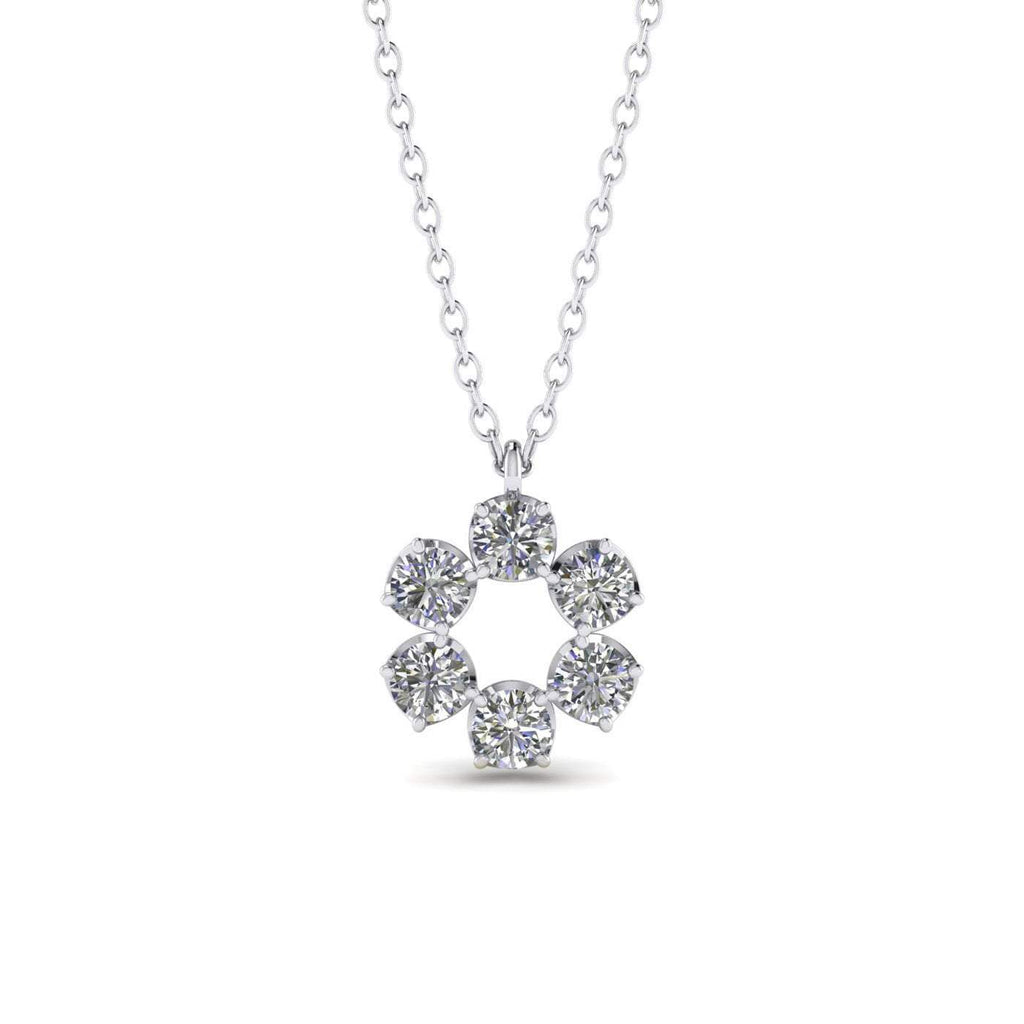 1.00ct Diamond White Gold Eternity Necklace - Custom Made