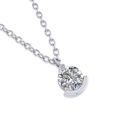 Daily Deal 1.01ct Diamond White Gold Exclusive Necklace