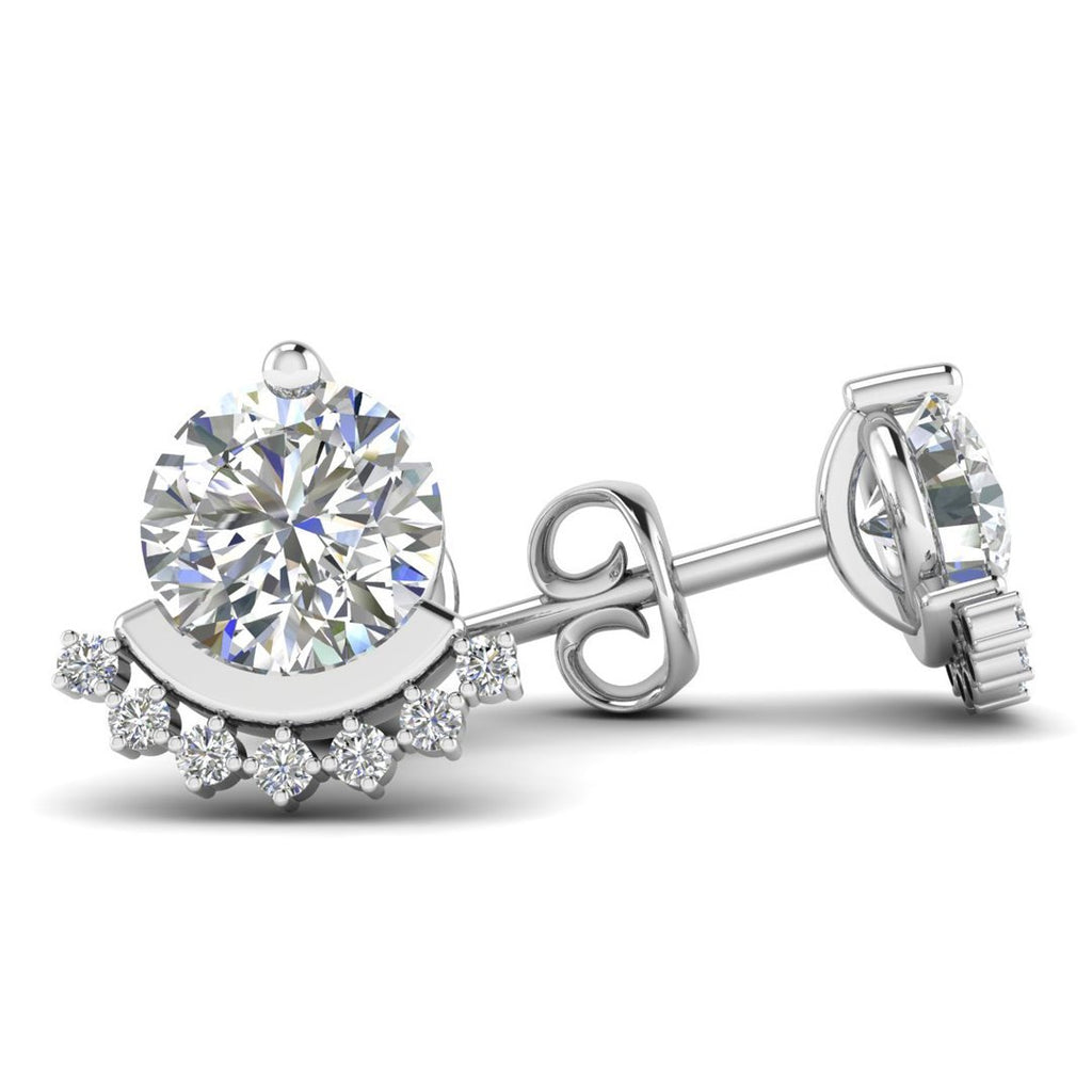 Daily Deal 1.10 carat Designer Diamond Stud Earrings
