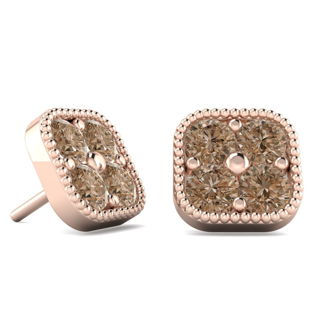 metallic earrings ruth tomlinson champagne diamond jewelry product gold gallery in stud lyst normal