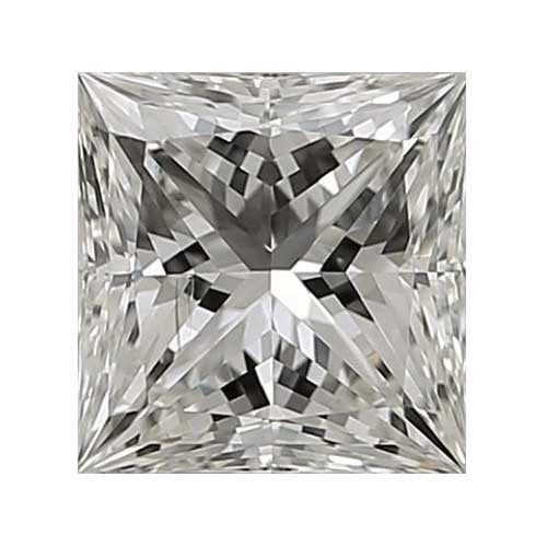 1.25 carat Princess Diamond - I/SI1 CE Very Good Cut - TIG Certified - Custom Made