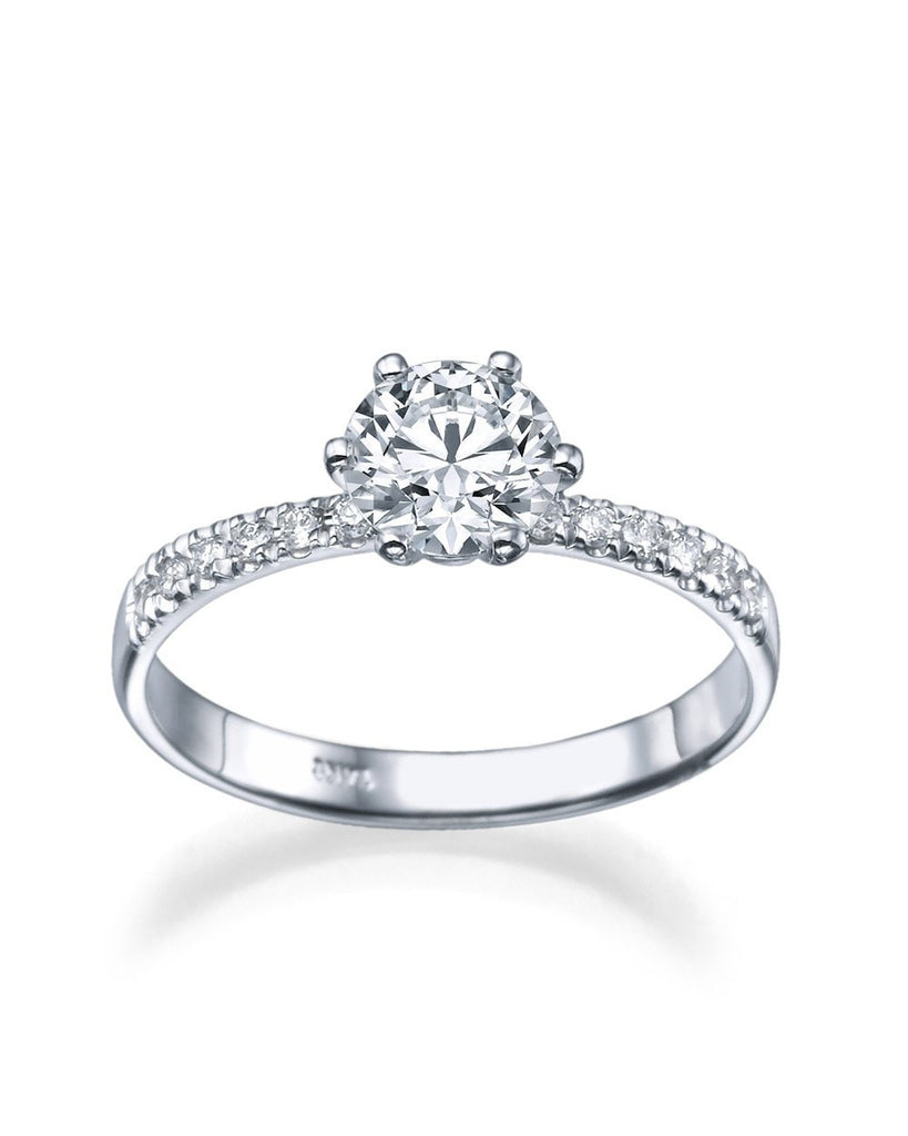 1.30 carat E/SI1 Diamond Snowflake Engagement Ring in Platinum - Custom Made