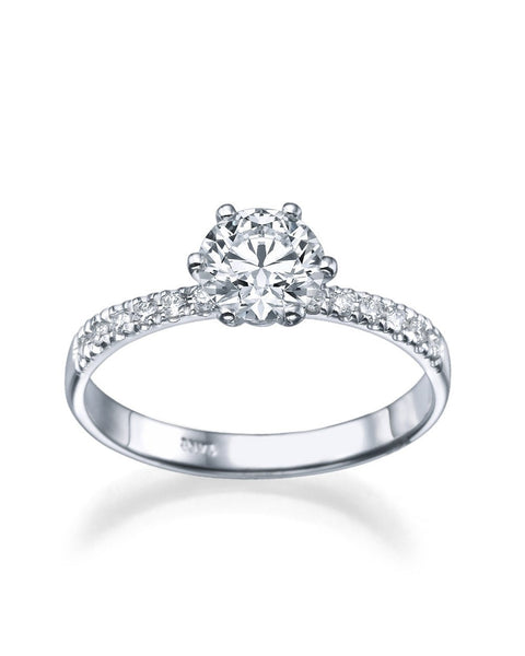 Engagement Rings 1.30 carat Snowflake Diamond Engagement Ring in 14k White Gold