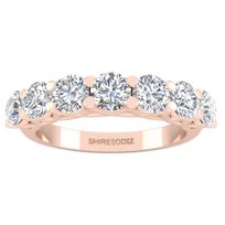 Daily Deal 1.40 carat 7-Stone Rose Gold Ring
