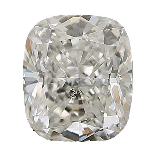 1.5 carat Cushion Diamond - J/I1 Natural Very Good Cut - TIG Certified - Custom Made