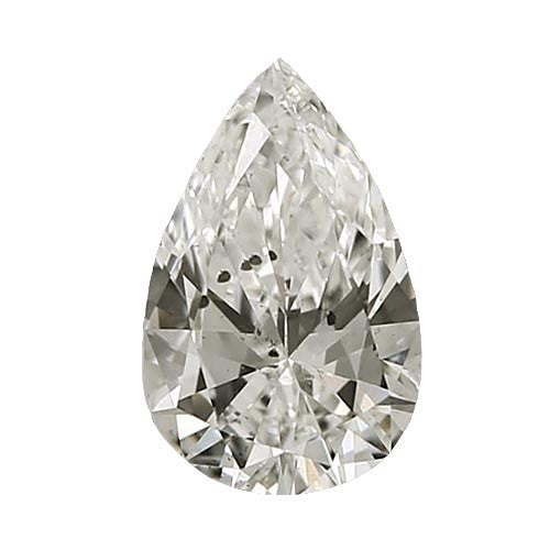 1.5 carat Pear Diamond - J/I1 CE Very Good Cut - TIG Certified - Custom Made