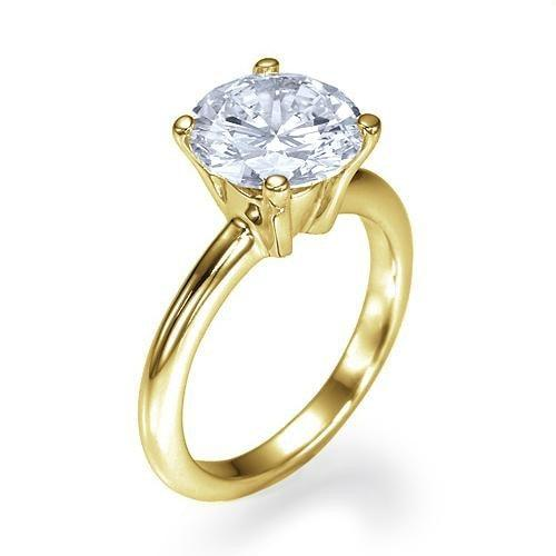 ... Engagement Rings 1.50 Carat F SI2 Diamond Solitaire Classic Engagement  Rings In 14K Yellow Gold