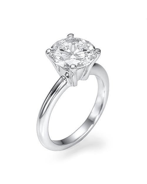 1.5ct D/SI1 CERTIFIED Round Diamond Engagement Ring 18K White Gold