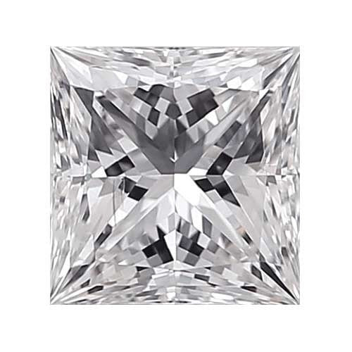Loose Diamond 1.7 carat Princess Diamond - D/SI1 CE Very Good Cut - AIG Certified